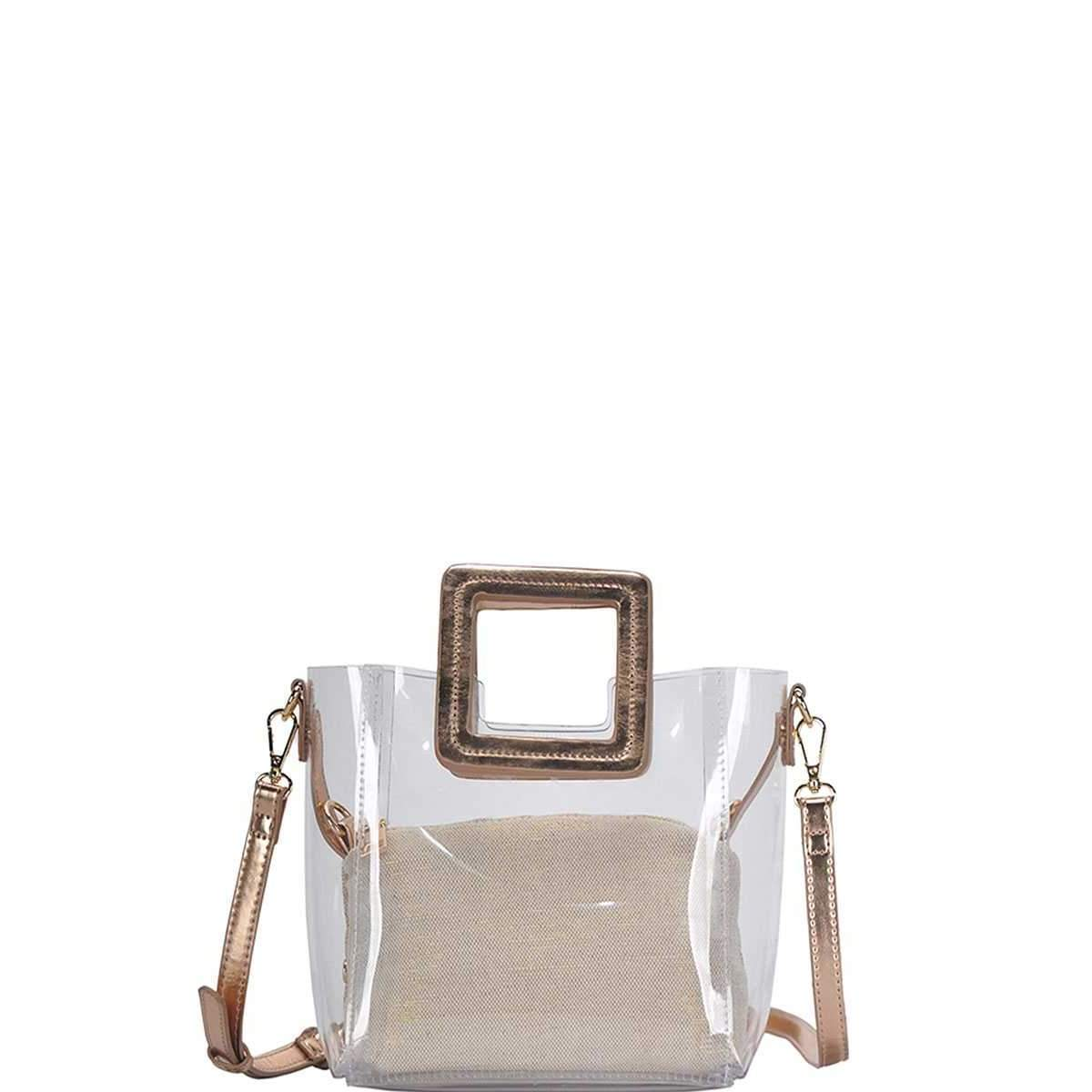 2in1 Transparent Satchel With Long Strap-SamiraBoutique