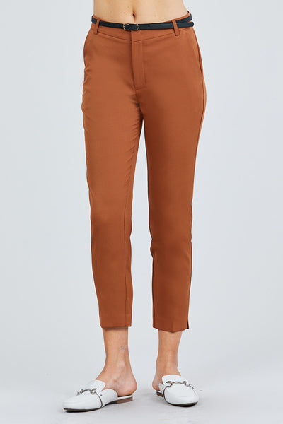 Classic Woven Pants W/belt-SamiraBoutique