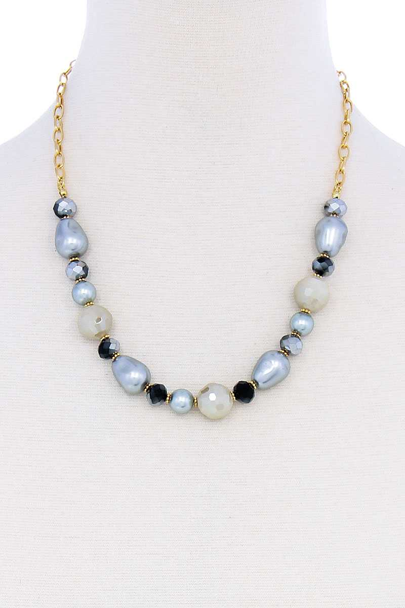 Modern Beaded Trendy Necklace-SamiraBoutique