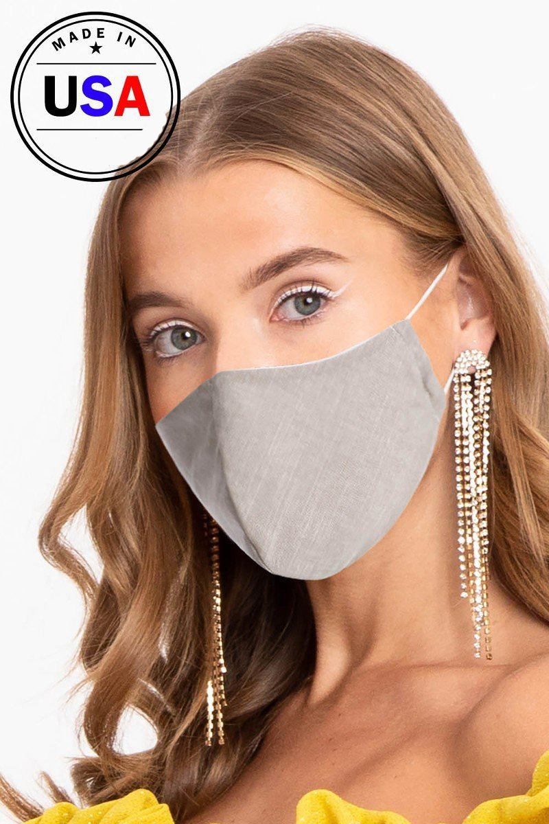 Made In Usa Unisex Fashionable Reusable Washable Cool Breathable Fabric, 3d Face Mask-SamiraBoutique