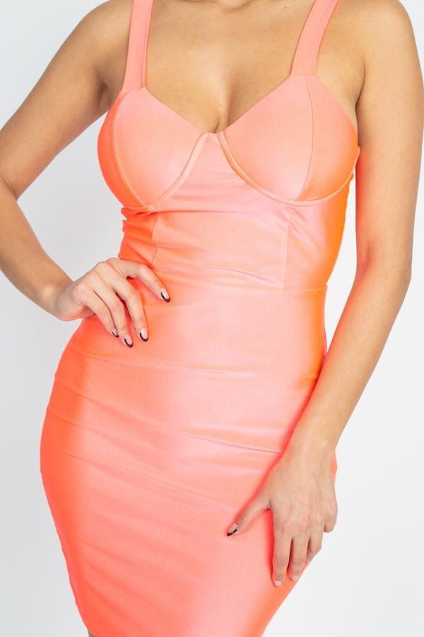 Satin Bustier Mini Dress-clothing-SamiraBoutique
