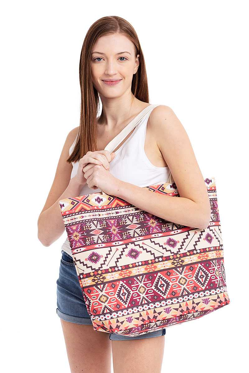 Aztec Pattern Tote Bag-SamiraBoutique