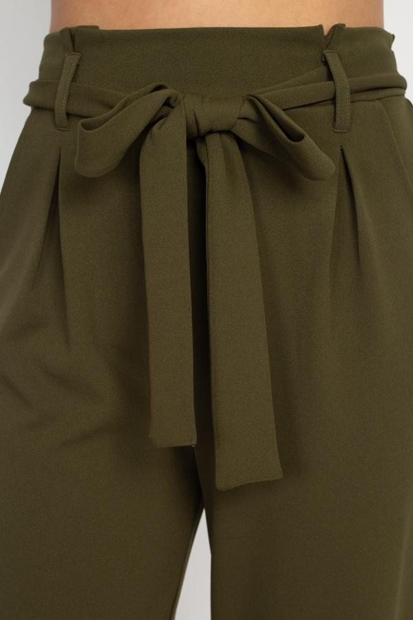 Paperbag Self Tie Pants-clothing-SamiraBoutique
