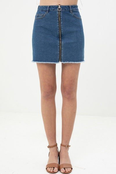 Unique Design Denim Skirt-clothing-SamiraBoutique