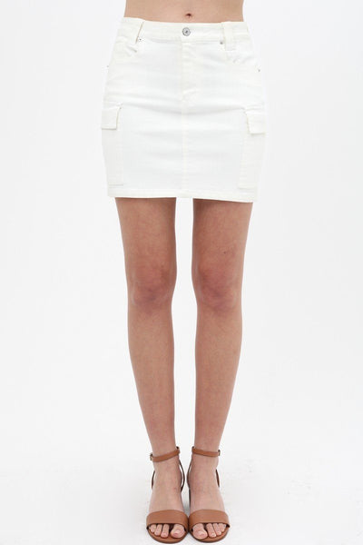 Cargo Cotton Span Mini Skirt-clothing-SamiraBoutique