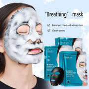 Deep Pore Cleaning Bamboo Charcoal Face Sheet Mask (2pcs) Skin Care - Mona Beauty USA