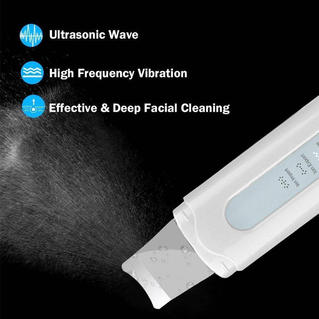 Skinly - Rechargeable Ultrasonic Facial Skin Scrubber Skin Care - Mona Beauty USA