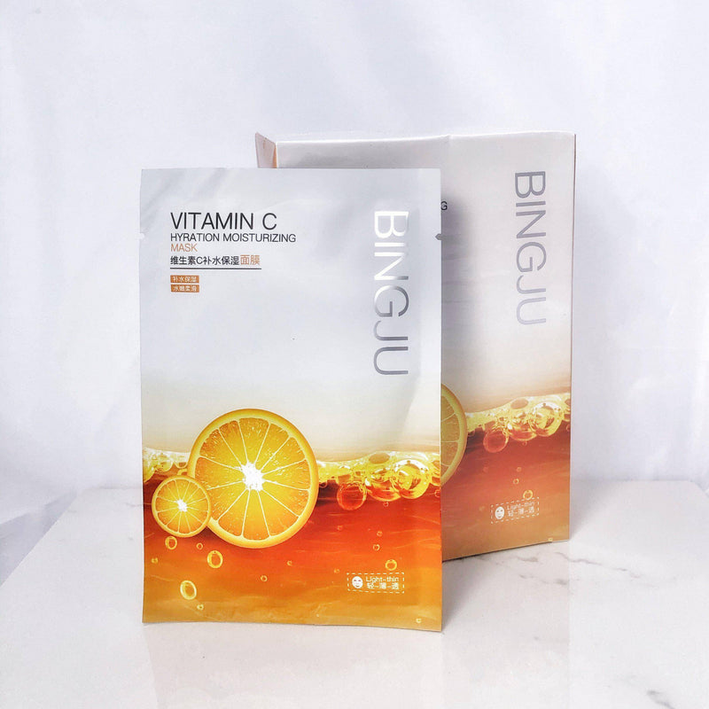 Vitamin C Brightening Sheet Mask (5pc set)-Skin Care-Mona Beauty USA