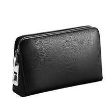 Load image into Gallery viewer, FINGERPRINT LEATHER POUCH- SECURED WALLET