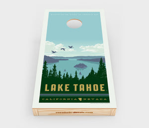 Lake Tahoe – Emerald Bay Cornhole Decal