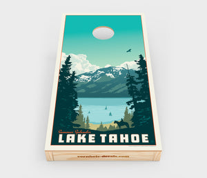 Lake Tahoe – Summer Splendor Cornhole Decal