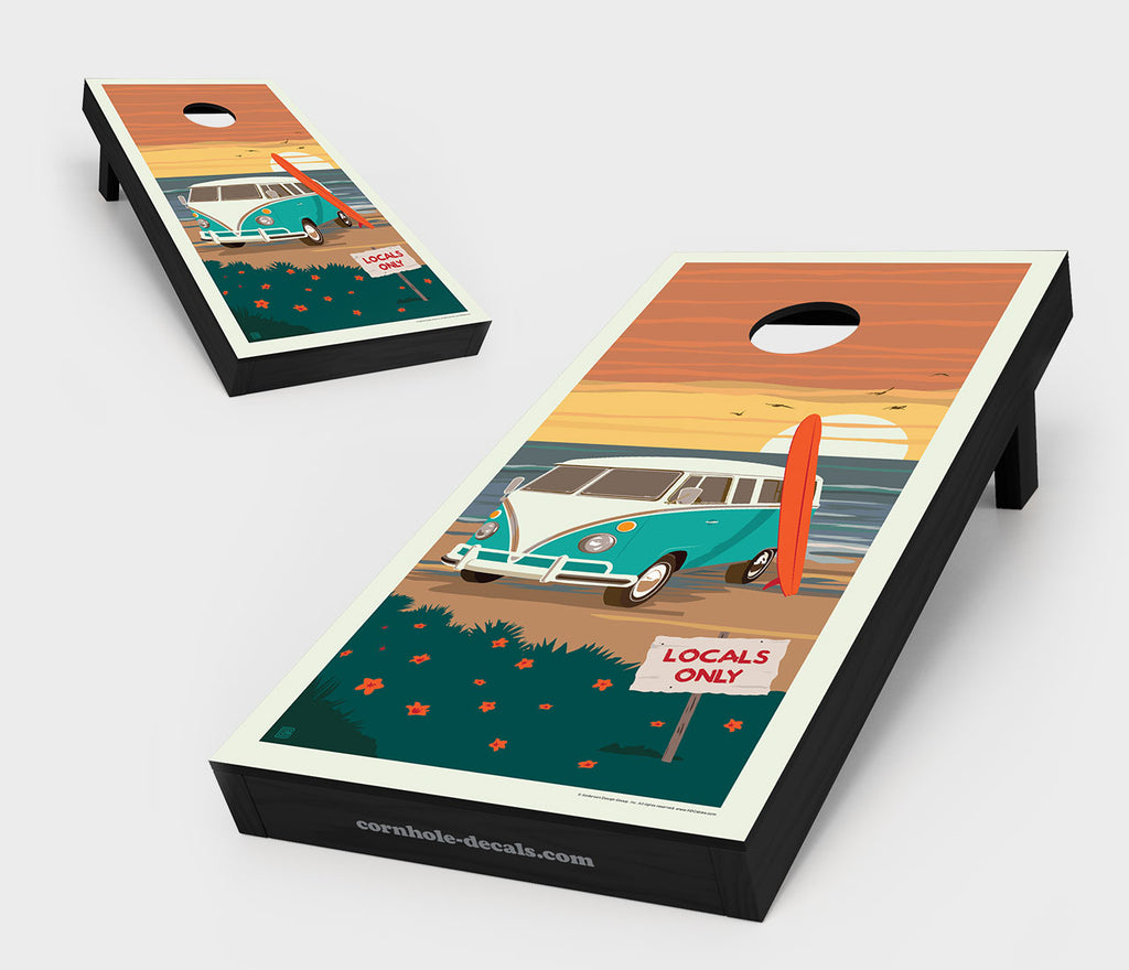 Locals Only: VW Surf Van Cornhole Board Set