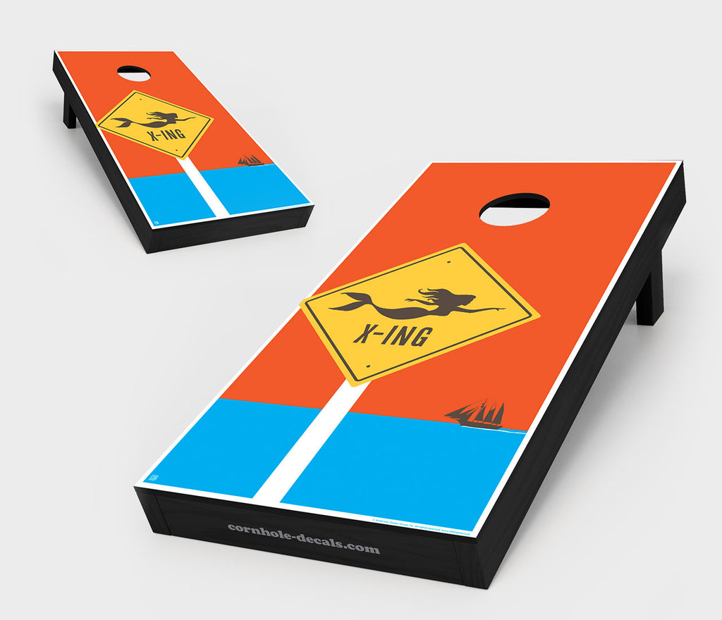 Mermaid Crossing Cornhole Board Set