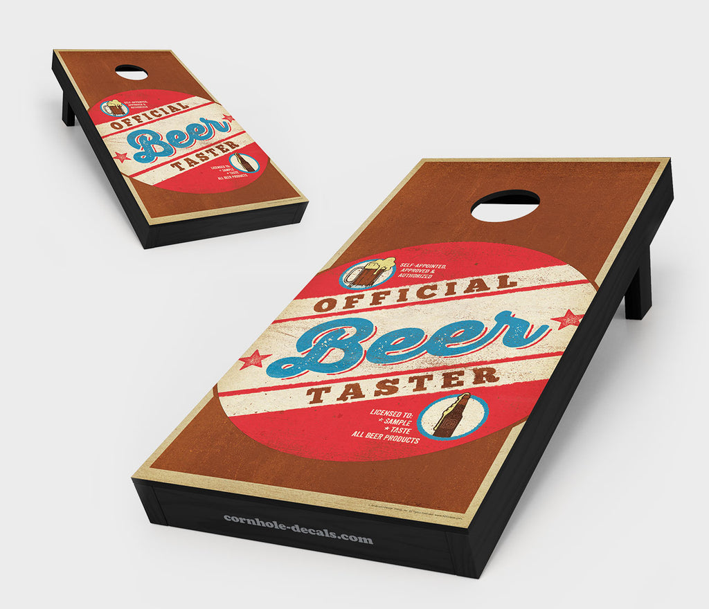 Official Beer Taster Cornhole Board Set