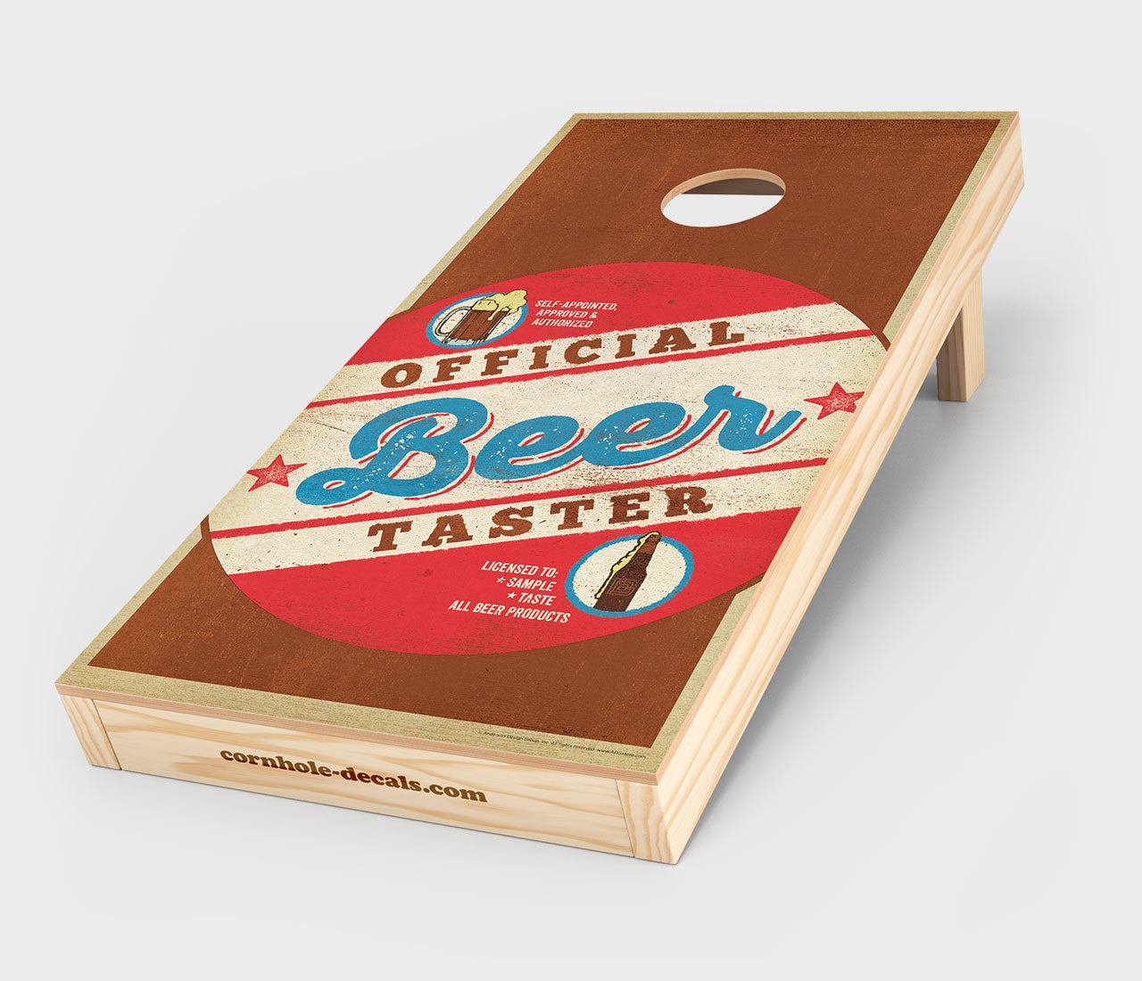 Official Beer Taster Cornhole Design