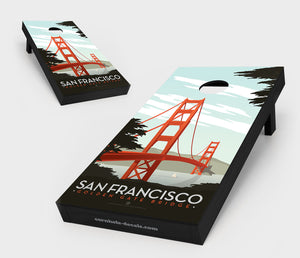 San Francisco – Golden Gate Bridge Cornhole Set