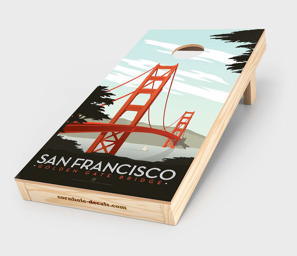 San Francisco – Golden Gate Bridge Cornhole Design