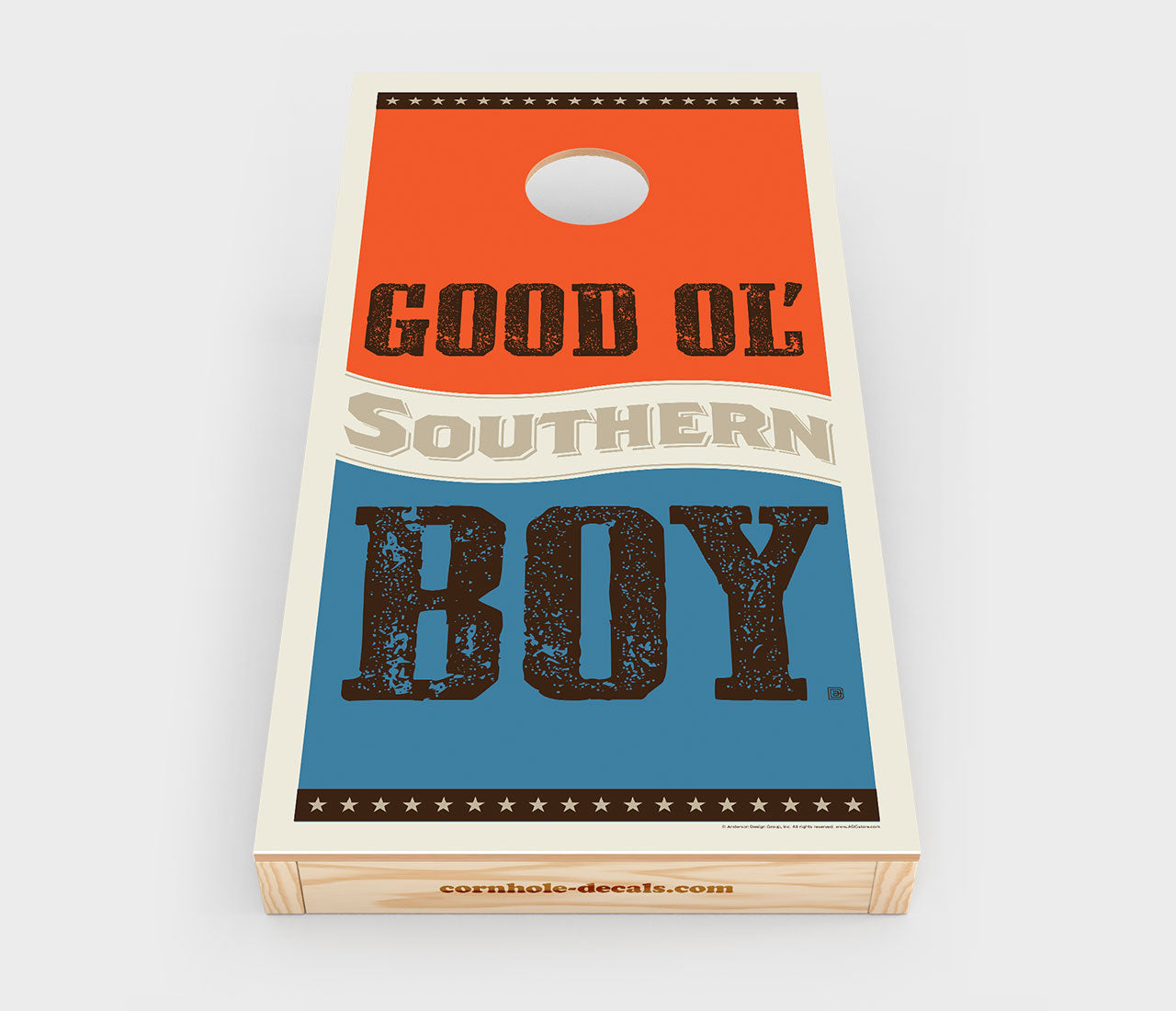 Good Ol Southern Boy Cornhole Decal