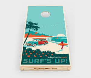 Surf's Up! Cornhole Decal