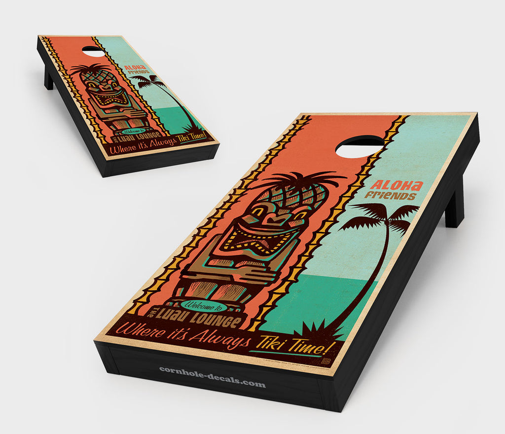 Tiki Time Cornhole Board Set