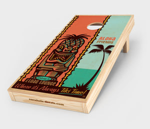 Tiki Time Cornhole Decal