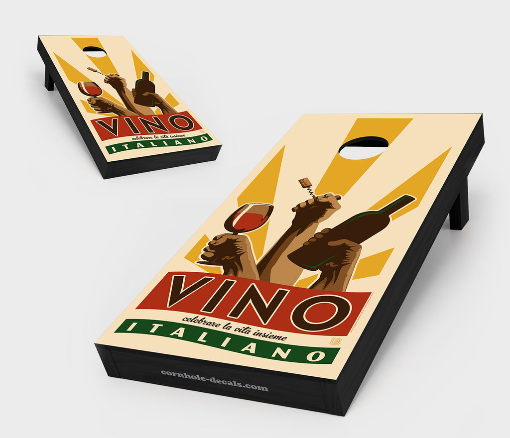 Vino Italiano Cornhole Board Set