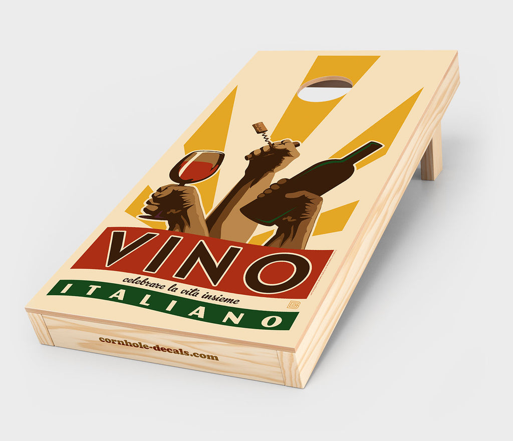 Vino Italiano Cornhole Decal