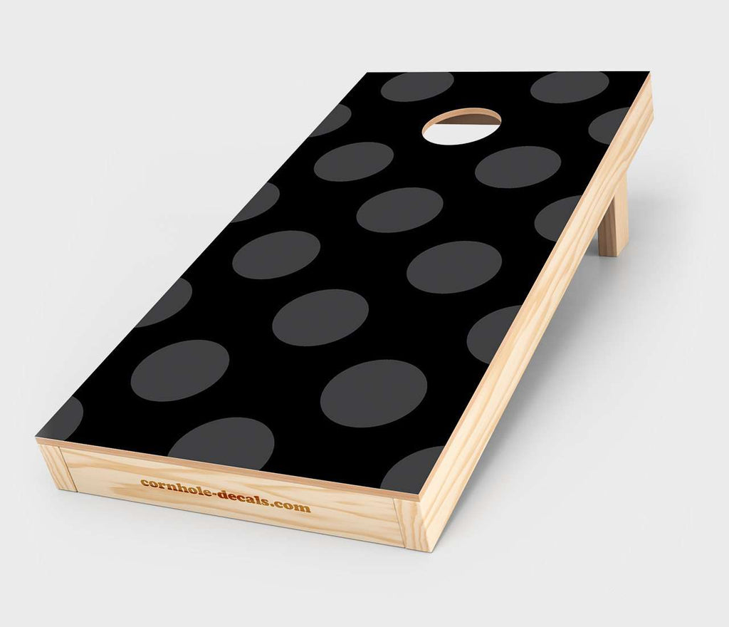 Black & Grey Polka Dot Cornhole Decal