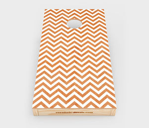 Chuggles Cornhole - Chevron Cornhole Decal - Straight On View