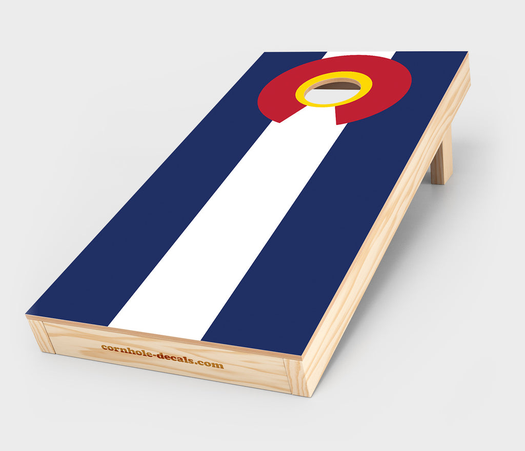 Chuggles Cornhole - Colorado State Flag Cornhole Decal