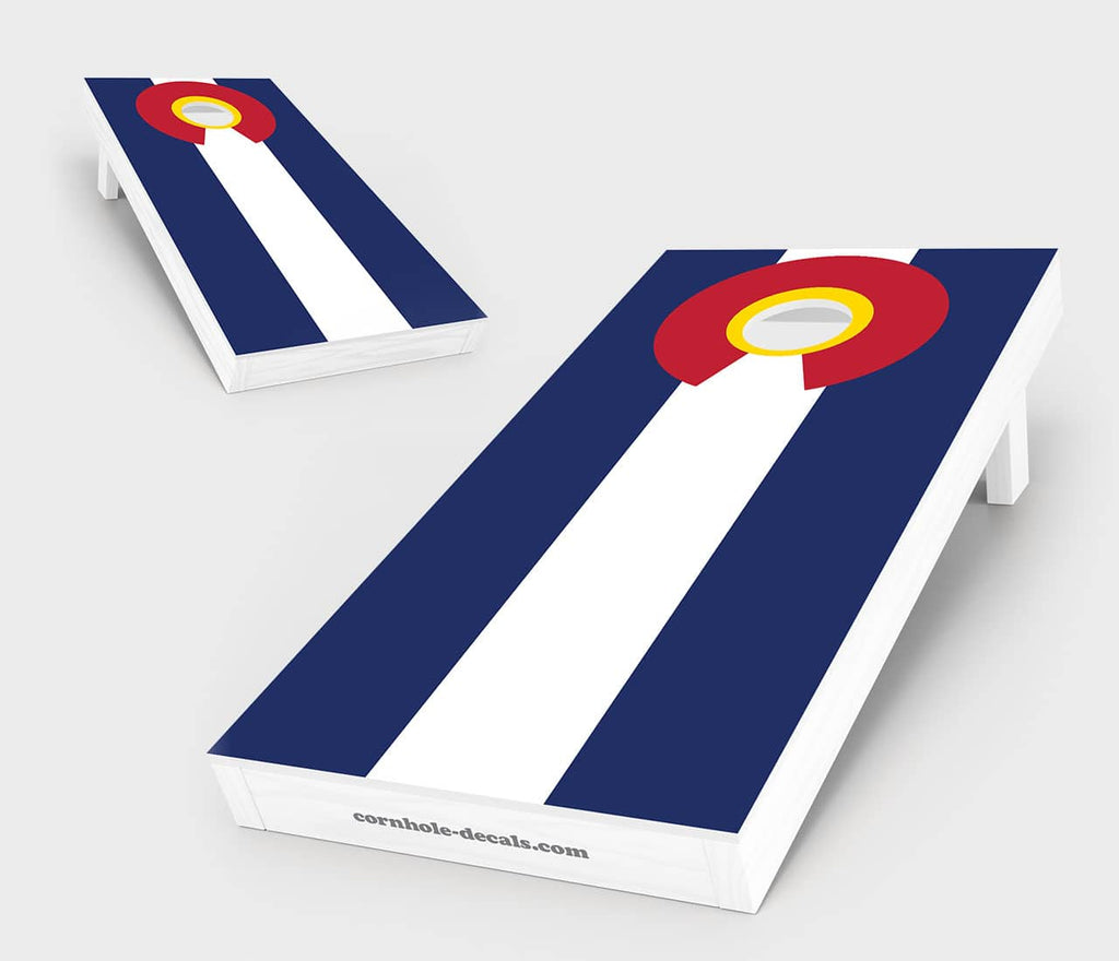 Colorado State Flag Cornhole Set
