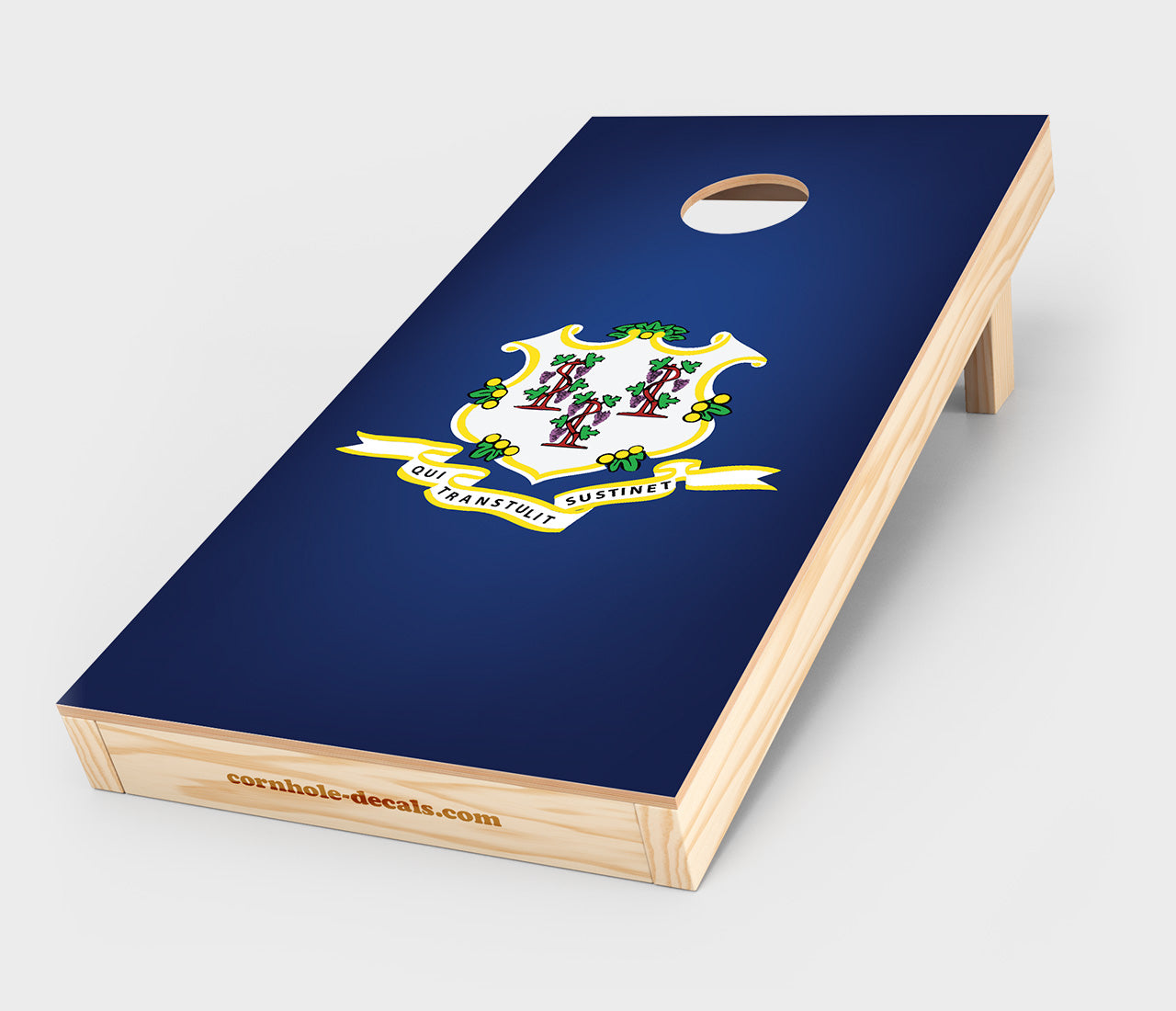 Chuggles Cornhole - Connecticut State Flag Cornhole Decal
