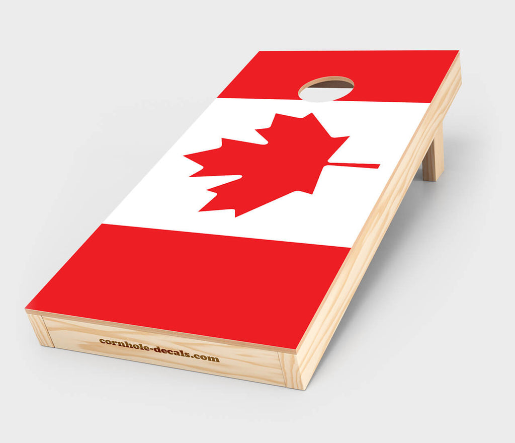 Chuggles Cornhole - Canadian Flag Cornhole Decal