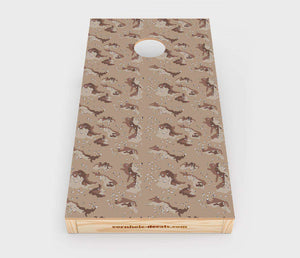 Chuggles Cornhole - Desert Camo Cornhole Decal - Straight On View