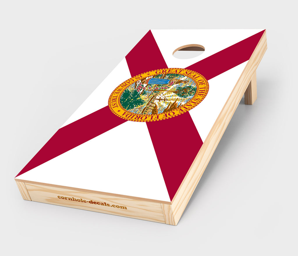 Florida State Flag Cornhole Decal