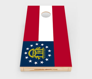 Georgia State Flag Cornhole Design