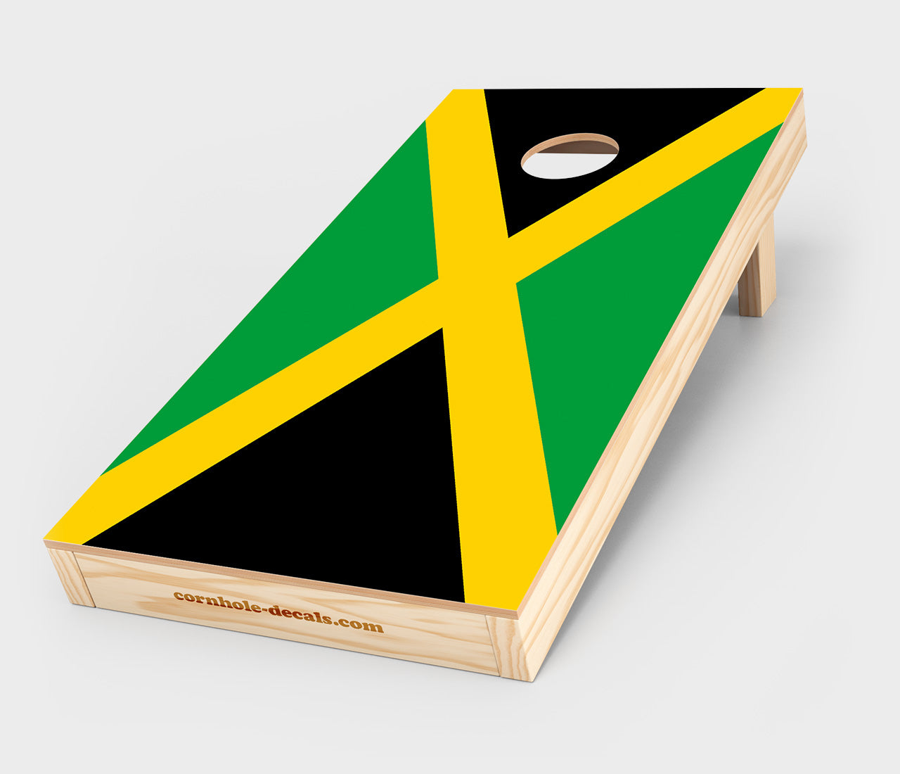 Jamaican Flag Cornhole Decal