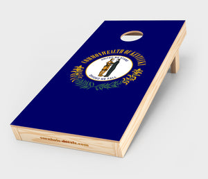 Chuggles Cornhole - Kentucky State Flag Cornhole Decal