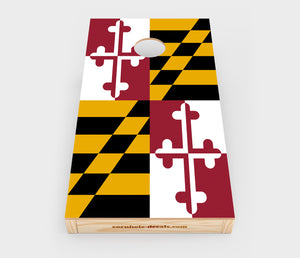 Maryland State Flag Cornhole Decal