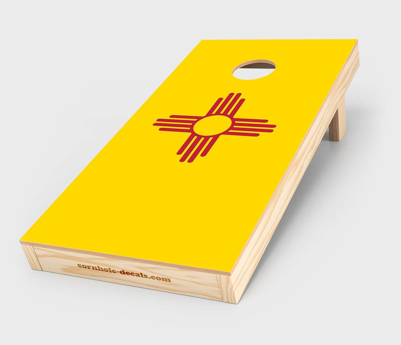 Chuggles Cornhole - New Mexico State Flag Cornhole Decal