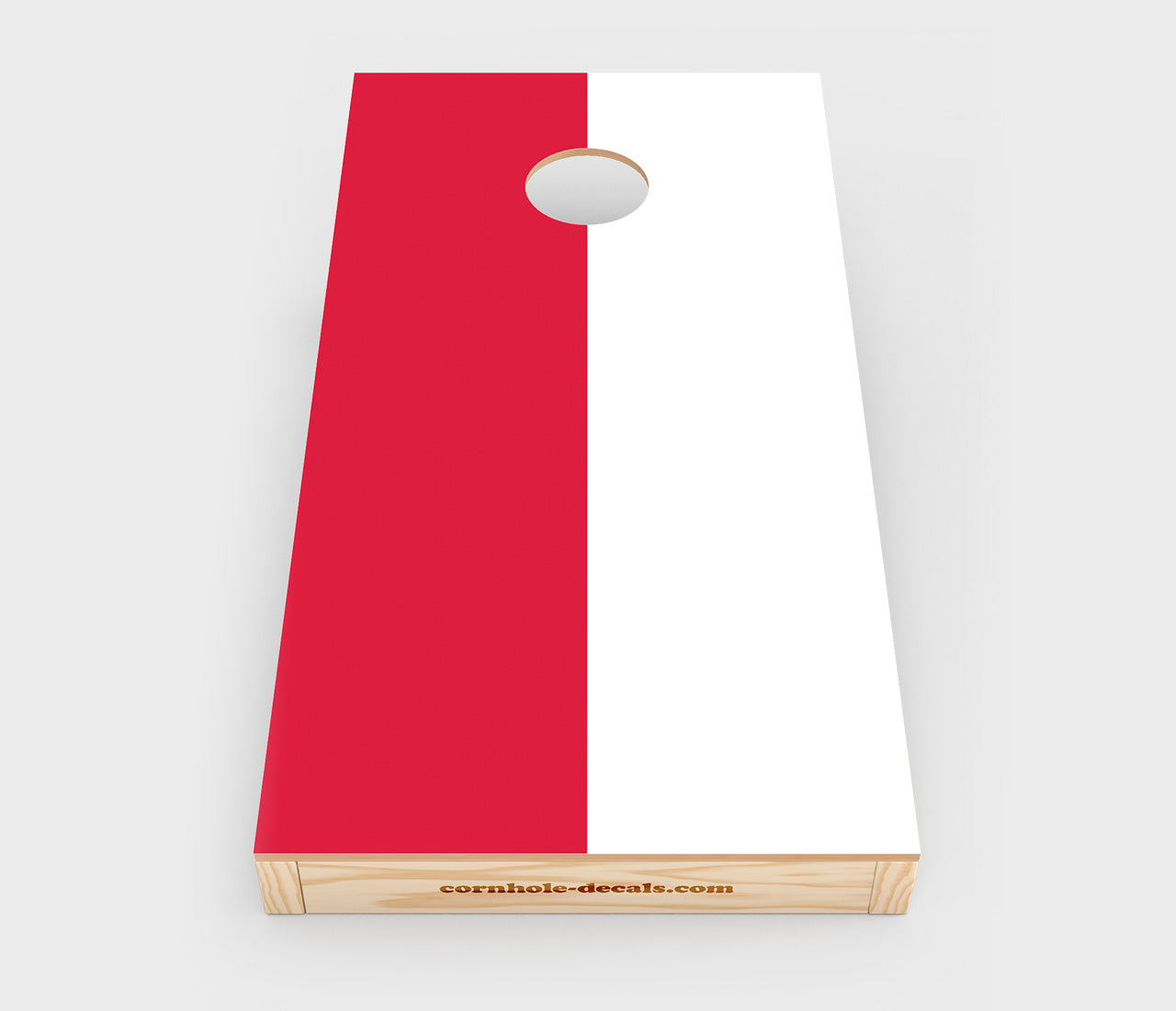 Polish National Flag Cornhole Decal