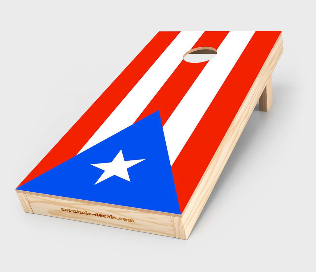 Puerto Rico Flag Cornhole Decal