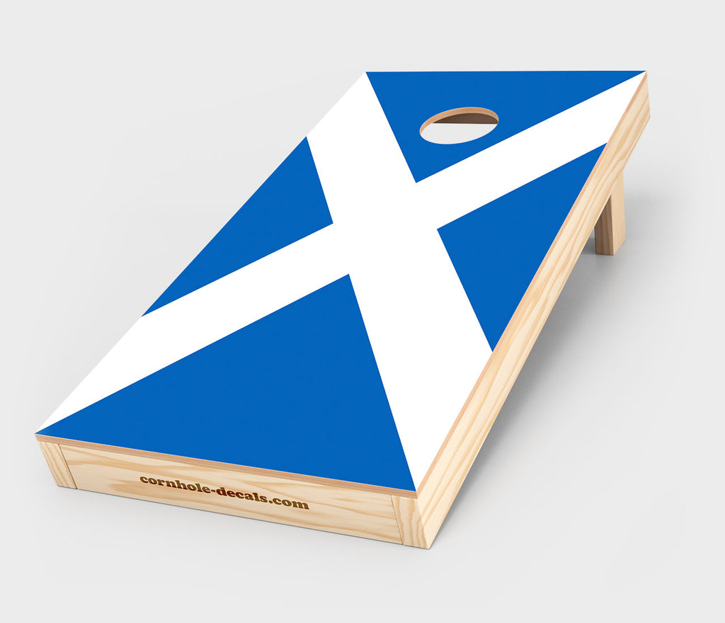 Scottish Flag Cornhole Decal