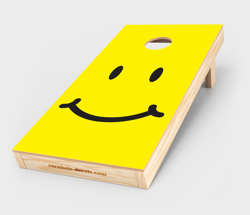 Smiley Face Cornhole Design