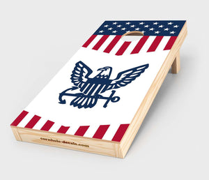 US Navy Insignia Cornhole Decal