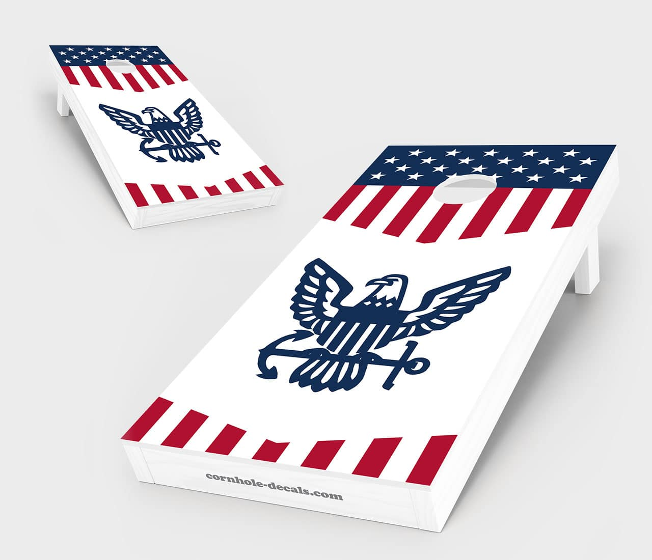 US Navy Insignia Cornhole Board Set