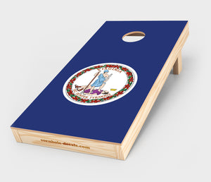 Chuggles Cornhole - Virginia State Flag Cornhole Decal