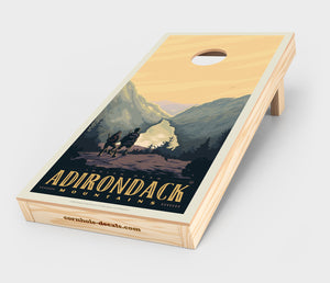 Adirondack Mountains Cornhole Design