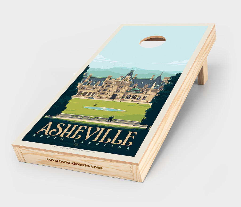 Asheville, North Carolina Cornhole Decal