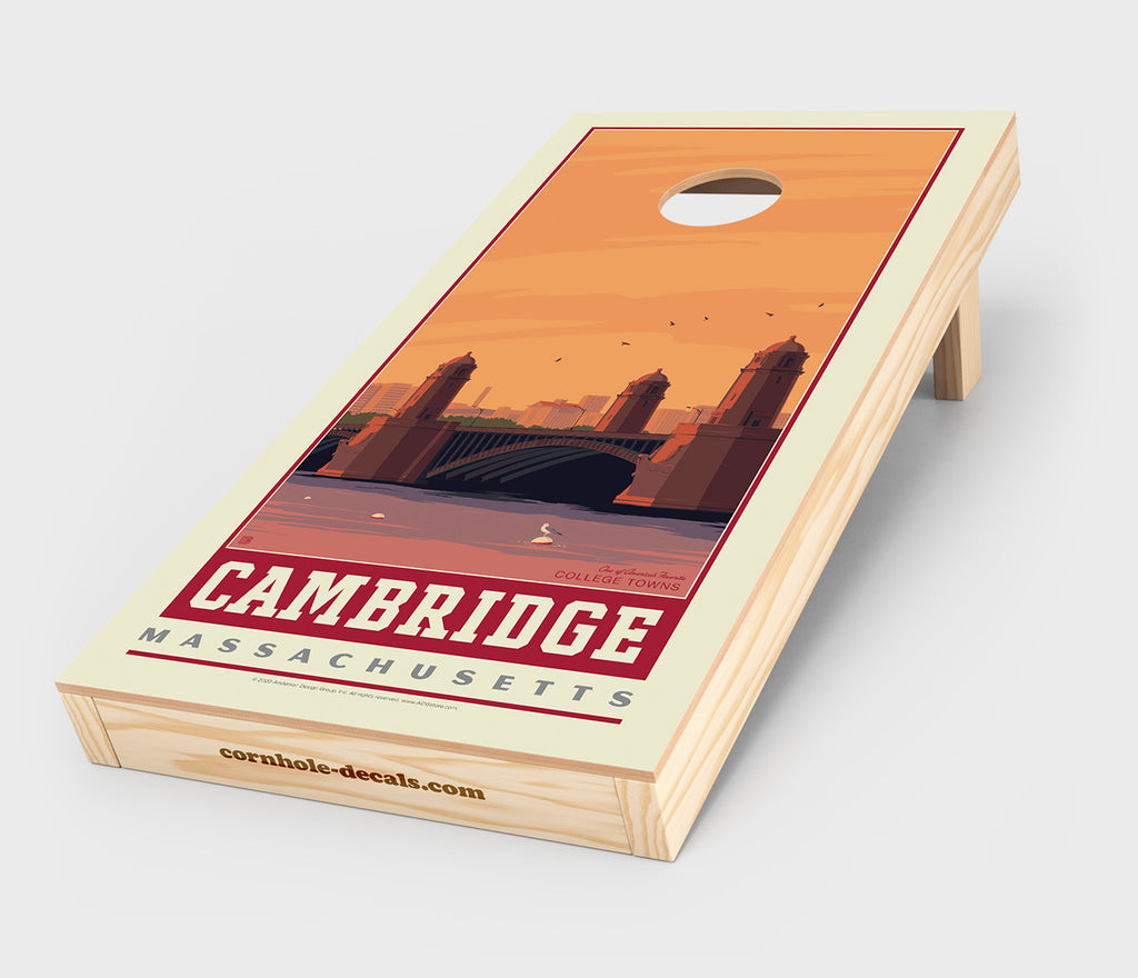 Cambridge, Massachusetts Cornhole Decal